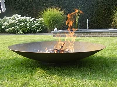 Primrose 100cm Corten Steel Fire Pit and Water Bowl from Primrose
