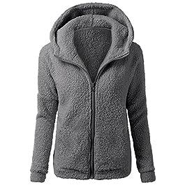 MORCHAN Femmes Pull à Capuche Manteau d'hiver Chaud Laine Zipper Outwear Manteau Manteau de Coton