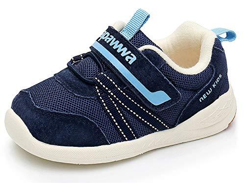 Ahannie Jungen und Mädchen Leder Sneaker, Unisex-Kinder Outdoor Laufschuhe, Baby Gymnastikschuhe (Color : Marine, Size : 23 EU)