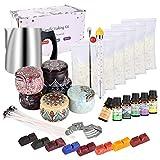 Kit de Fabricación de Velas, DIY Velas Perfumadas juego completo para principiantes con cera de soja, olla, latas, tintes, mechas y más velas suministros de arte y manualidades