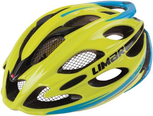 Limar, Casco da ciclismo Unisex adulto Ultralight Plus, Multicolore (Lime Blue), M (53 - 57 cm)