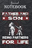 Journal Notebook, Composition Notebook: Motocross Supercross Brap Dirt Bike - Father and Son Riding 6'' x 9'', 100 Pages for Notes, Journal, Soft ... Finish A special gift for Kids, Him or Her