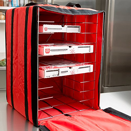 American Metalcraft PB1926 Pizza Delivery Bag with Rack, Deluxe, Holds Up to 10 Pizza Boxes, 27' Hx...
