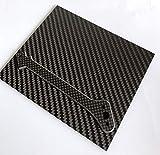 cncarbonfiber Carbon Fiber Sheet 150x125x1mm Panel Plate Board Twill Matte for RC Drone Qu...