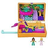Polly Pocket GKJ53 - Polly Pocket Saftspaß-Safari Schatulle, 2 kleine Puppen und Zubehör