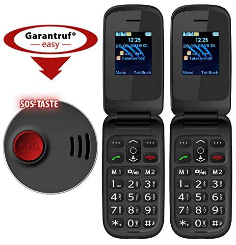 simvalley MOBILE Klapphandy: 2er-Set Notruf-Klapphandys XL-949 mit Garantruf Easy, Dual-SIM (Komfort-Klapphandy)