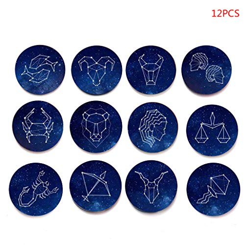 llwei258 Llwei 12 Constellatie Koelkast Magneet Koelkast Magneten Leo Schorpioen Ram Vissen Glas Cabochon Sticker Set Home Decor