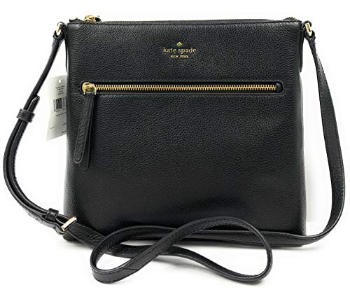 Kate Spade New York Jackson Pebbled Leather Shoulder/Top Zip Crossbody Bag Black