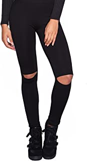 Womens Stylish Sexy Knee Cut Out High Waist Stretchy Leggings