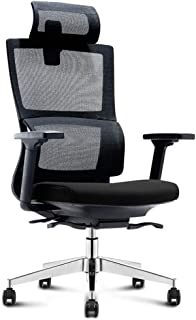 Ergonomic Office Desk Chair Adjustable Mesh Swivel Home Task Chairs with Padded Seat And Armrest Black, Safe, Flexible And...