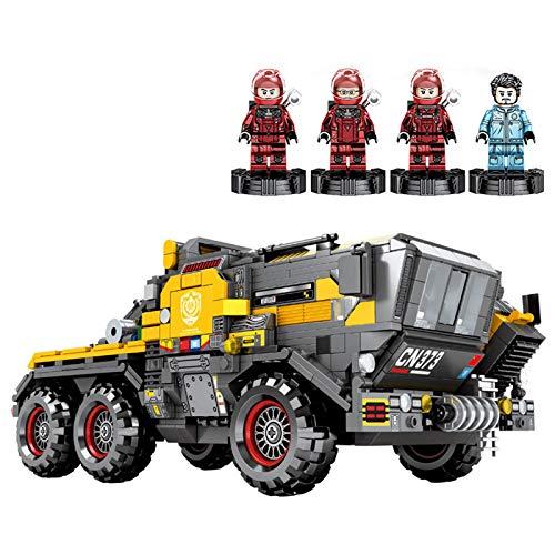 Set de Construcción modelo de ensamblaje camión de cubo de tamaño mediano de la serie Wandering Earth, 1445 partículas, juguete educativo de regalo para niños y niñas mayores