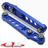AJP Distributors Rear Lower Control Arm Blue With Black Polyurethane Bushings Compatible/Replacement For Integra Civic Crx Del Sol