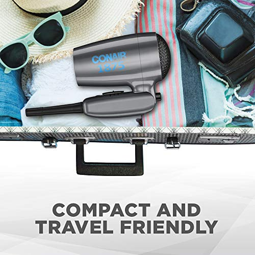 Conair 1875 Watt Compact Dual Voltage Travel Hair Dryer with Folding Handle