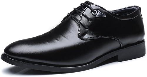 XIANGBAO-Personality Chaussures Décontracté Oxfords à Talons Hauts à Lacets pour Hommes (Couleur   Noir, Taille   44 EU)