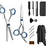 Kit de tijeras profesionales para peluquería, 6 pulgadas de tijeras de acero inoxidable 13 juego con tijeras para el pelo, capa, tijeras de corte y adelgazamiento, etc.