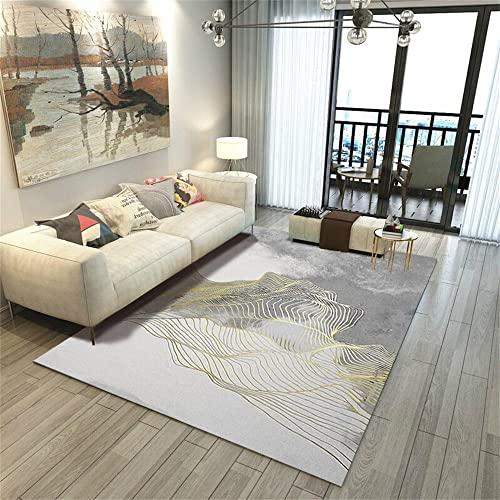 alfombras Infantiles Lavables Alfombra Gris, cojín para Silla de Oficina, sofá, Alfombra insonorizada, Resistente al Desgaste y Duradera alfombras habitacion niño -Gris_El 160x230cm