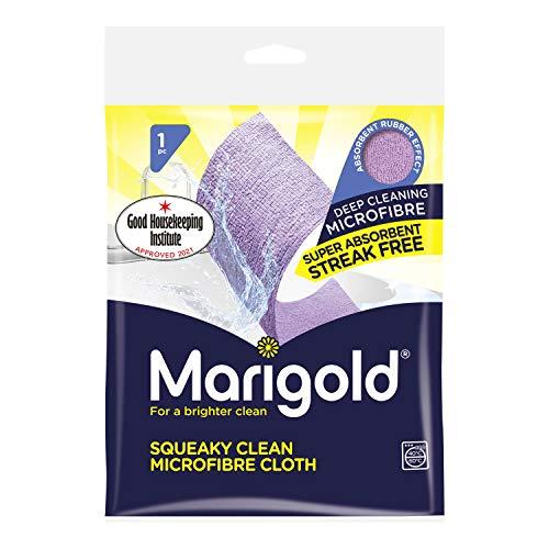 MARIGOLD Squeaky Clean Streak Incluye Gamuza de Microfibra, Púrpura, 25Unidades