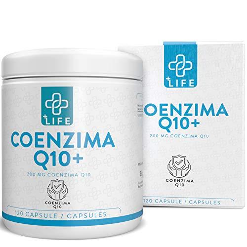 PiuLife® Coenzyme Q10+ ● 120 Gélules de 200 mg de CoQ10 à Forte Dose ● Protection Contre les Radicaux Libres Obtenue acev l'Ubiquinone ● Action Antioxydante efficace, Apporte Énergie et Force