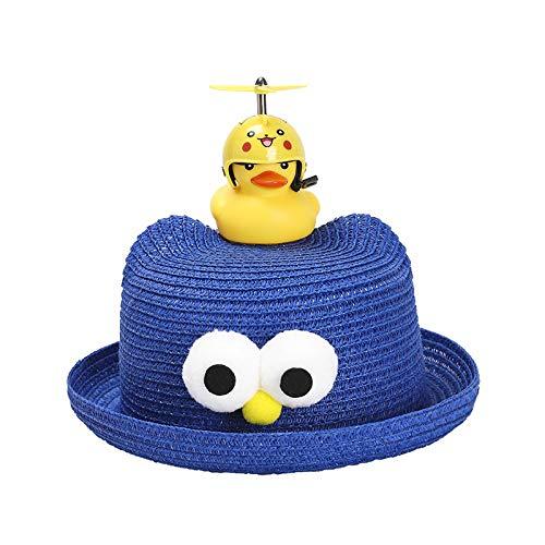 Sombrero para niños Verano Nueva versión Coreana del Casco Lindo Super Lindo pequeño Pato Amarillo bebé Sombrero para el Sol Sombrero de Paja para niños