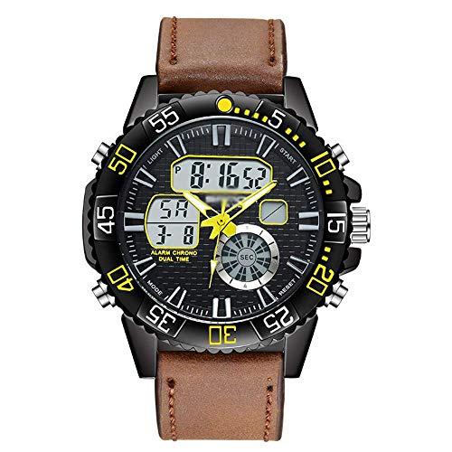 Deportes juventud reloj electrónico, los hombres de la correa de reloj deportivo a prueba de agua de negocios, Display Pointer + Digital, luminoso, con calendario del mes y de la semana A jianyou