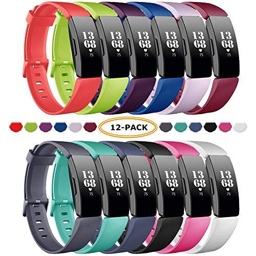FatcatBand Fitbit Inspire & Inspire HR Correa,Edición Especial Soft Silicona Deportes Recambio de Pulseras Ajustable Reemplazo Accesorios Compatible para Reloj Fitbit Inspire & Inspire HR