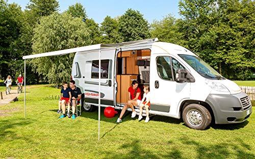 Fiamma Dachmarkise F80S weiß 370cm grau Markise Camping Sonnenschutz Wohnmobil Sonnendach Reisemobil