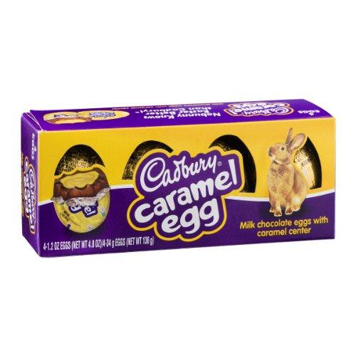 Cadbury Caramel Eggs, 4-count Box, 4.8-Ounce