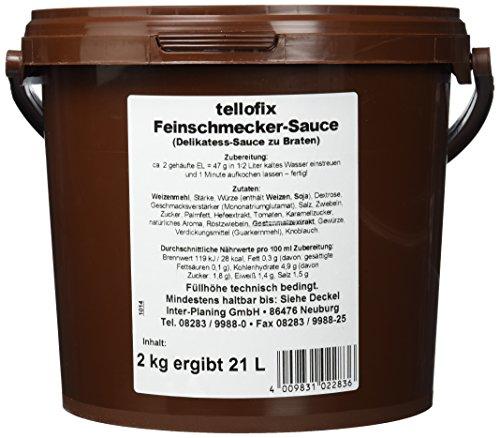 tellofix Feinschmecker Sauce zu Braten, 1er Pack (1 x 2 kg)