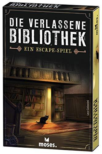 moses. Verlag GmbH 90351 Die verlassene Bibliothek   Escape Spiel in der Schachtel   Spielmaterial wieder verwendbar   Ab 12 Jahren   Für 1-4 Spieler