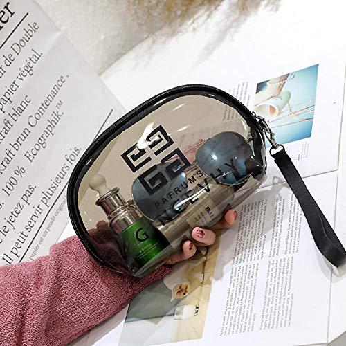 FRTU Trousse de toilette de voyage Petite trousse de toilette portative semi-circulaire portative sac de voyage de rangement multifonctionnel marron