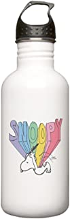 CafePress Snoopy Rainbow Water Bottle Stainless Steel Water Bottle, 1.0L Sports Bottle