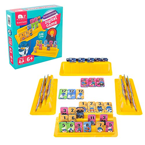 Rummy Tile Board Game with Durable Rack and Case for Travel for Kids and Adults