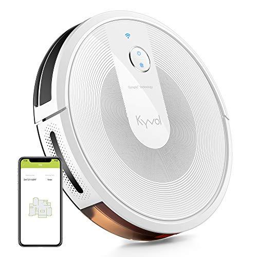 KYVOL Aspirateur Robot 2200Pa, Navigation Intelligente, 150Mins Autonomie, 600ML Capacité, Silencieux, Wi-FI...