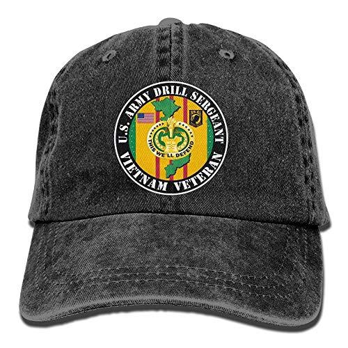 Funny Z Us Army Drill Sergeant Vietnam Veteranen Denim Hut Einstellbare Unisex Stretch Baseball Hüte