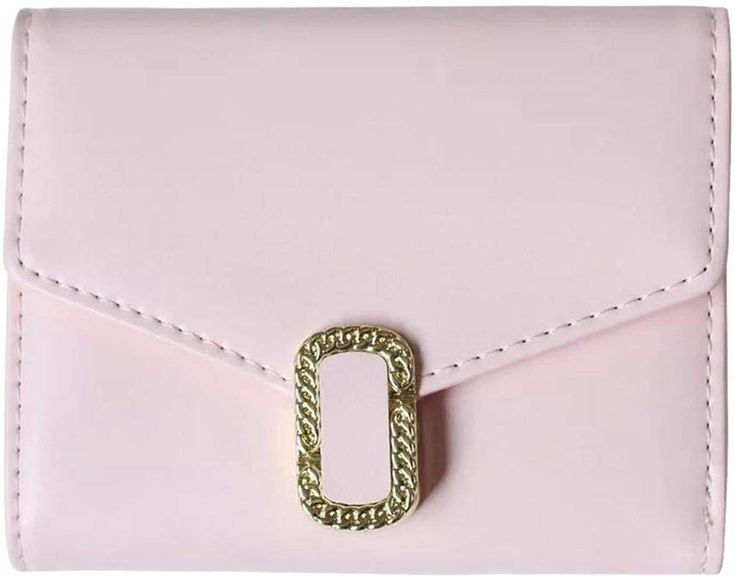 Girls Purse Women's Wallet Ladies Wallet 30 Percent Hardware Buckle Mini Pocket Change Clip (color   D)