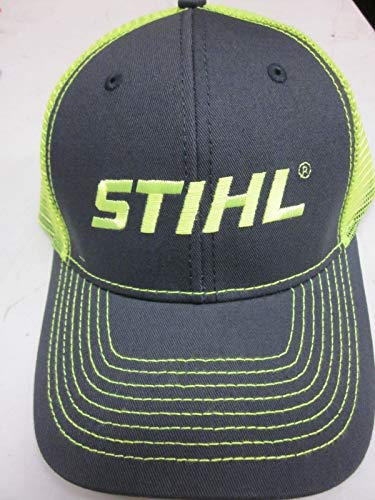 Stihl Officially Licensed Chainsaw Neon Mesh Back Cap Adjustable Snapback Truckers (Neon Yellow)