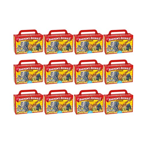 Barnum's Animal Crackers - 12 Individual Snack Pack Boxes