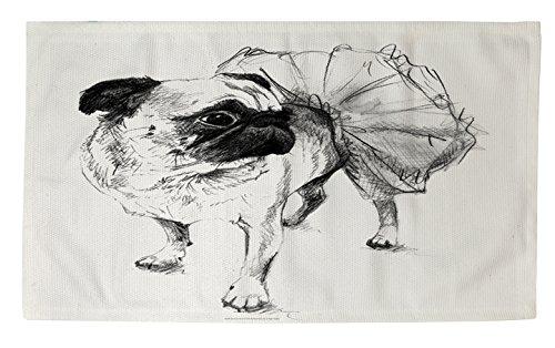 Manual carpinteros y tejedoras Dobby baño alfombra, 2por 3-Feet, bailarina CARLINO Chloe