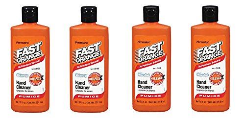 Permatex Fast Orange Fine Pumice Lotion Hand Cleaner - 7.5 Fluid Ounce (4)