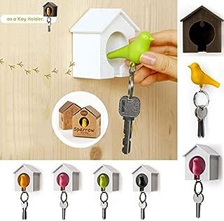 Kicode White Bird Nest Holder Key Ring Home Wall Hook