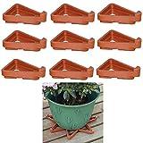 PhoenixDN 12 Pies de Maceta Triangular, Triángulo Maceta de plástico, pies Invisibles para macetas, para Plantas de jardín Interiores y Exteriores, transpirabilidad y prevención de pudrición