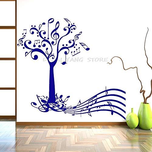 LKJHGU Musikbaum Schlüssel Kunst Wand Raumdekoration Papier abstrakte Wanddekoration Poster Vinyl