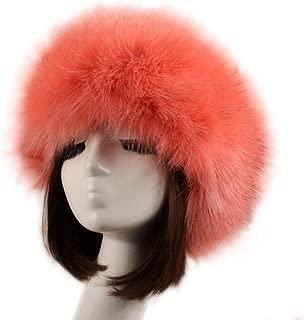 Tngan Women's Faux Fur Headband Soft Winter Cossack Russion Style Hat Cap