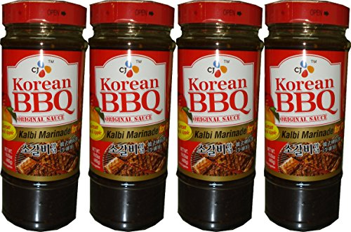 CJ Korean BBQ Original Sauce Kalbi Marinade 480g (4 Pack)