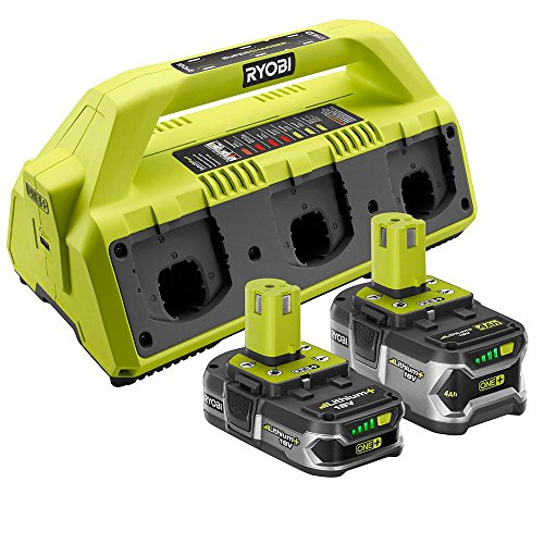 Ryobi 18-Volt ONE+ Super Charger Kit with 2 Batteries - P1820 - (Bulk Packaged)