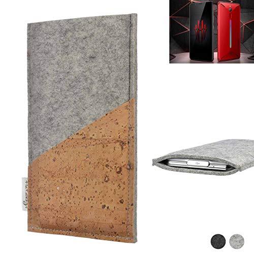flat.design Handy Hülle Evora kompatibel mit Nubia Red Magic Mars Schutz Tasche Kartenfach Kork passexakt handgefertigt fair