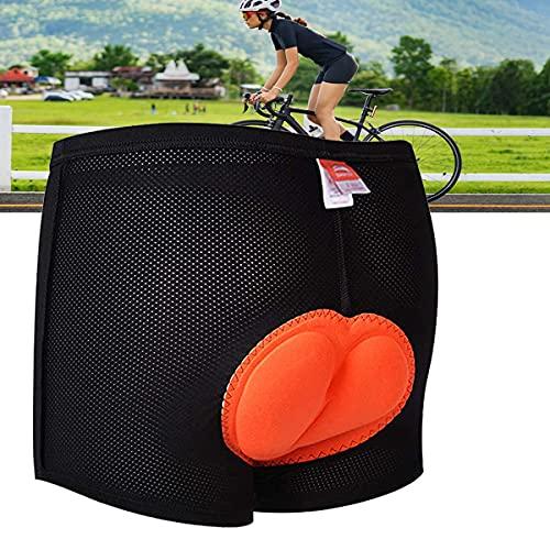 INMOZATA Herren Damen Radhose 3D Gepolsterte Gel Radunterhose Fahrrad Radunterhose Shorts Anti-Rutsch-Design Atmungsaktiv & Absorbierend Anti-Shock Shorts Pants (M)