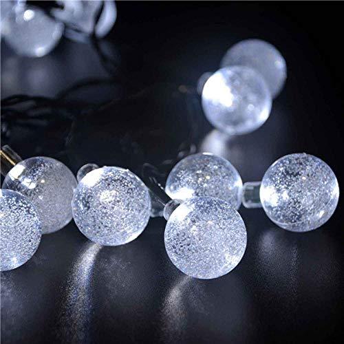 30 led stringa sfera di cristallo ad energia solare lederTEK marca le luci delle fate del globo più popolari per la decorazione natalizia del giardino esterno-bianco freddo