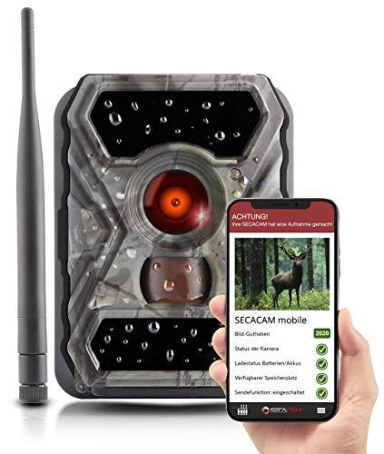SECACAM Raptor Mobile - Wildkamera mit SIM-Karte sendefähig (GPRS, GSM, UMTS) mit Handy-Übertragung & App (Normalwinkel 52°)