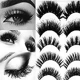 3D mink eyelashes Real Siberian Mink Hair mink lashes handmade fake eyelashes wispy lashes natural looking reusable fake eyelashes 5 pairs 5 styles lashes pack